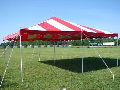 20 x 20 Do It Yourself Canopy Tent - Red & White