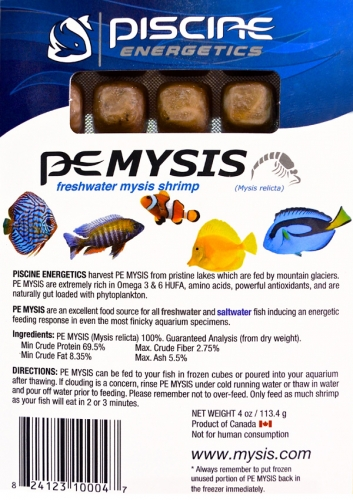 Piscine Energetics® Frozen Mysis Shrimp