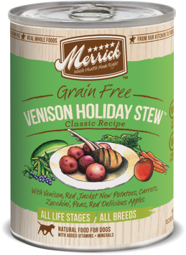 Merrick Venison Holiday Stew Can Dog 12/13.2 oz.