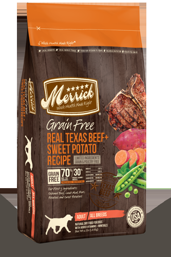 Merrick Grain Free Real Texas Beef and Sweet Potato 25 lb.