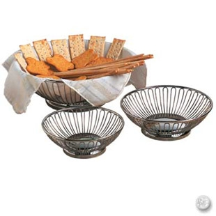 Round Stainless Steel Bread Basket