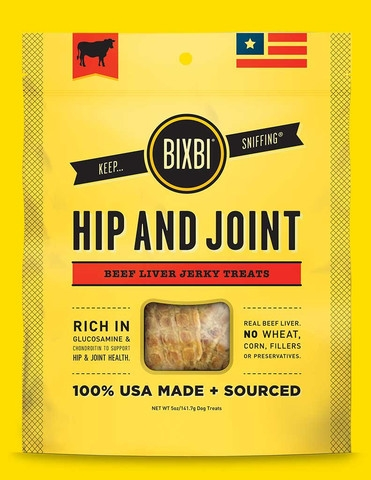 Organic Pet Superfood Bixbi Hip + Joint Beef Liver Jerky (5 oz)