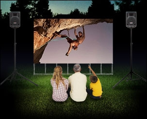 Backyard Theater Systems, 12' Diagonal SilverScreen Backyard Theater System
