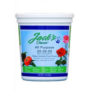 Jack's Classic All Purpose Plant Food, 20-20-20