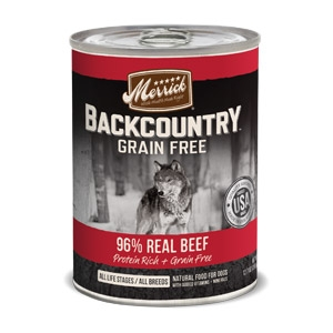 Merrick Backcountry Grain Free 96% Real Beef Recipe Wet Dog Food