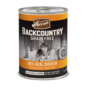 Merrick Backcountry Grain Free 96% Real Chicken Recipe Wet Dog Food