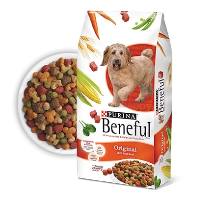 Beneful Beef Dog Food 5/7 lb. Case