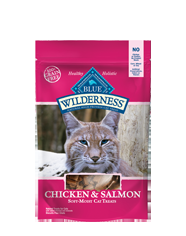 Blue Buffalo Wilderness Treats Chicken/Salmon Cat 2OZ C=12