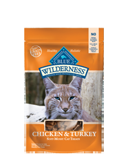 Blue Buffalo Wilderness Treats Chicken/Turkey Cat 2OZ C=12