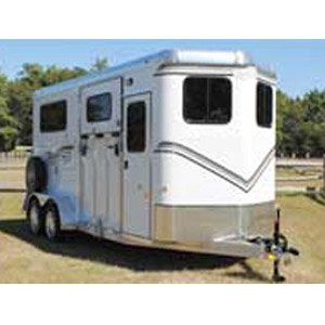 The Newport Classic All Aluminum w/Dressing Room 2-Horse Side Unload