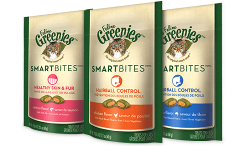 Feline Greenies Smartbites Hairball Control - Tuna Flavored, 2.1oz