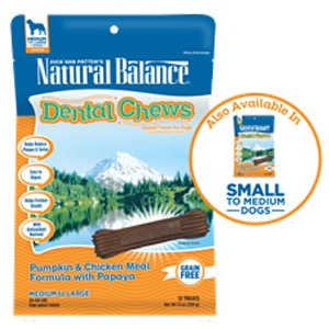 Natural Balance® Dental Chews Pumpkin & Chicken Meal Formula with Papaya Treats