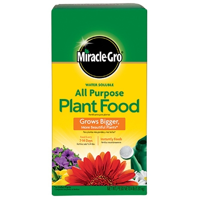Miracle Gro Plant Food, Water Soluble, 4-Lbs.