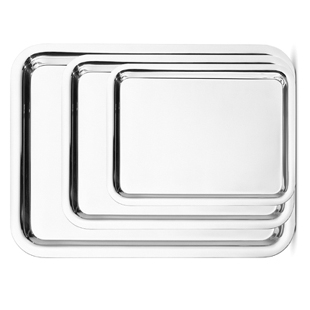 Tray, 14″ x 22″ Rectangle Silver