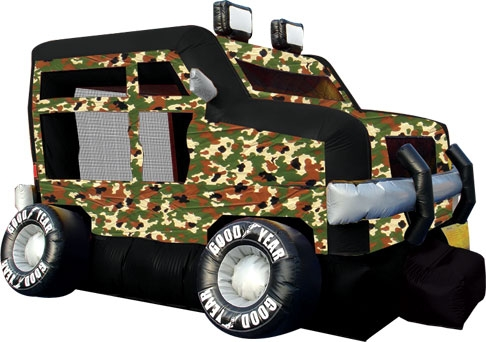 Military Truck Bounce House