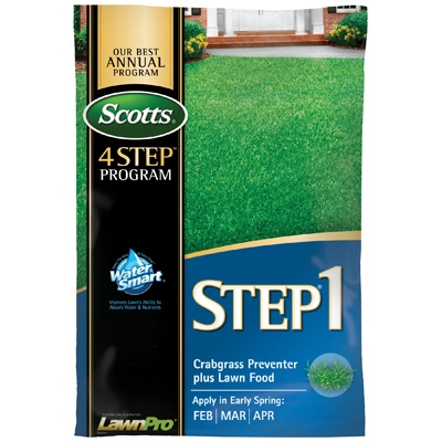 Scotts Lawn Program Step 1: Fertilizer Plus Crabgrass Preventer, 15K