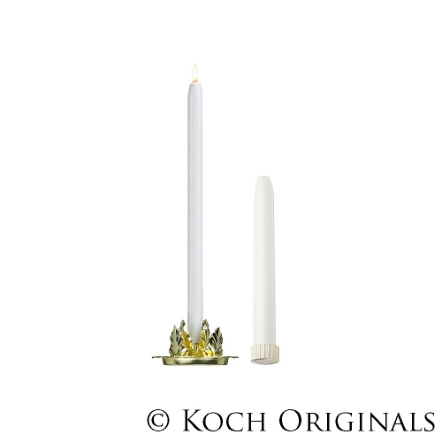Candles, 8″ Dripless White Metal