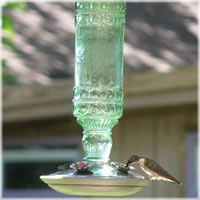 Perky-Pet® Antique Glass Bottle Hummingbird Feeder