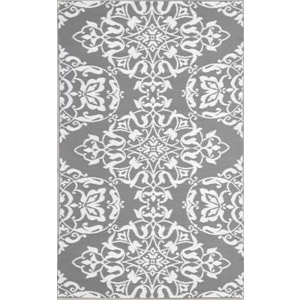 Wrought Iron Cool Silver 5' x 8' Outdoor Rug