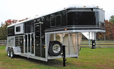 Two Plus One Classic All Aluminum 2-3 Horse Gooseneck W/ Optional Black Outer Skin