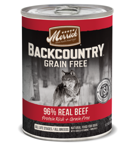 Merrick Backcountry Grain Free 96% Real Beef 12.7oz Can