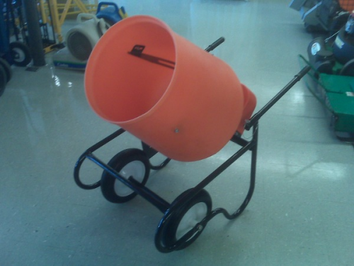 Cement Mixer, 1.5 cu. ft. electric