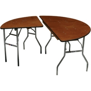 "P.S. 100 Series - 72"" dia. Half-Round Table"