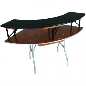 3' ID x 6' OD Outer Bar-Top Table W/Skirting