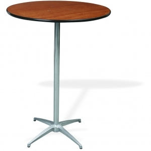 "P.S. 100 Series - 30"" di x 42"" ht Pedestal  Rd. Reception Table"