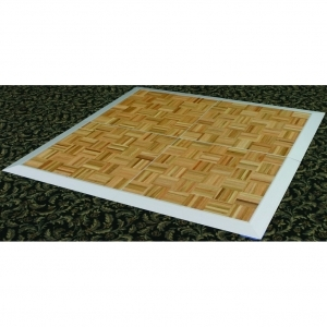 P.S. 9x15 EventXpress Dance Floor - Wood Parquet