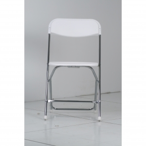P.S. EventXpress Chairs - White  Seat/Back/Feet CH Frame