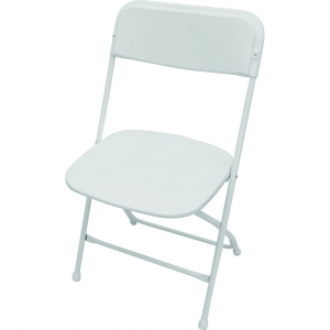 Folding Chair- Wedding White Seat/Back/Frame/Feet