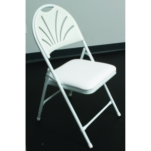 Chair, White - Padded Seat