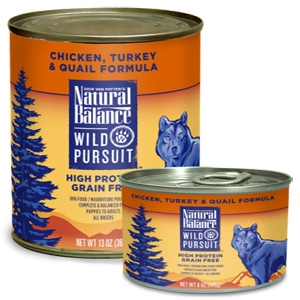 Wild Pursuit Chicken, Turkey & Quail Canned Dog Formula