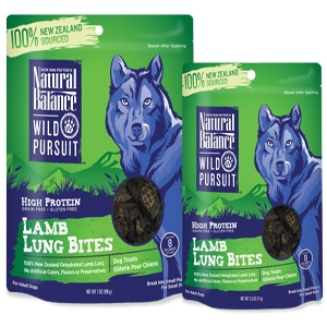 Wild Pursuit Lamb Lung Bites Dog Treats