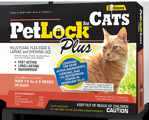 PetLock™ Plus Flea and Tick Treatment for Cats over 1.5 lbs