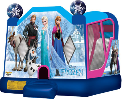 Frozen Inflatable 3 in 1 Bounce House