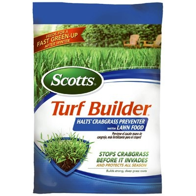 Turf Builder with Halts Crabgrass Preventer Plus Lawn Fertilizer, 30--0-4