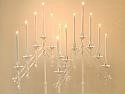 Slant Candelabra in white, gold or nickel