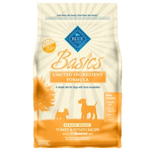 Blue Basics® Healthy Weight Turkey & Potato Recipe Dog Food