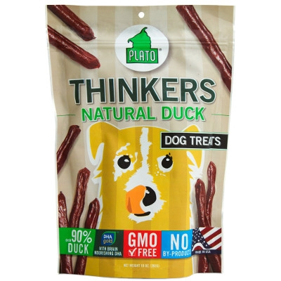 Plato Thinkers Natural Duck Dog Treats