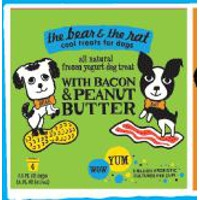 Bacon & Peanut Butter Frozen Yogurt 4pk.