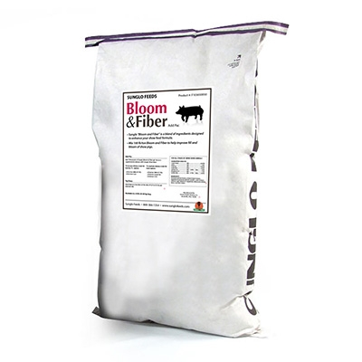 Sunglo® Bloom & Fiber Meal for Pigs Keller Grain & Feed Inc