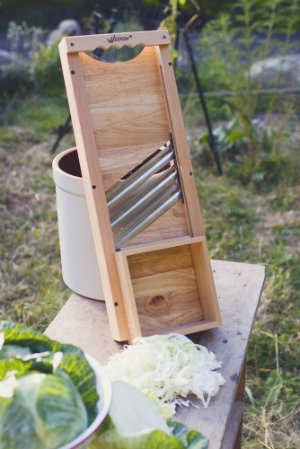 Heavy-Duty Slaw Board and Cabbage Shredder