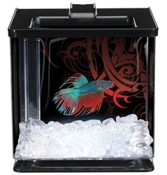 Marina Betta Special Edition EZ Care Aquarium - Black (LED)