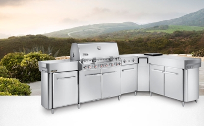 Summit Stainless Steel LP Social Grill Center