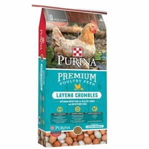 Purina Layena Pellets Complete Poultry Feed, 50#