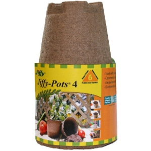 Jiffy Peat Pots Brown 4 Inch/6 Pack