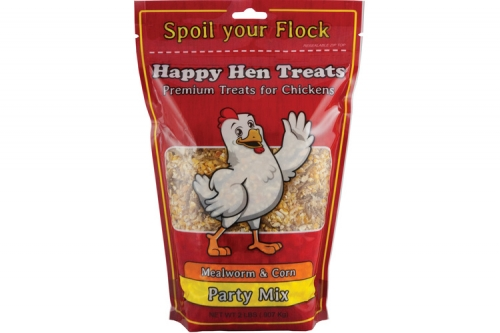 Happy Hen Treats Mealworm & Corn Party Mix 2 lbs.