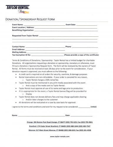Sponsorship Request Form  Resume Template Sample